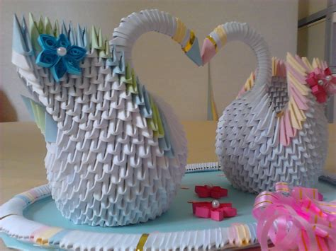 3d origami wedding jewellia handicrafts 3d origami wedding swans