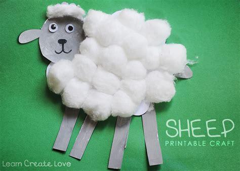 sheep craft printable sheep craft