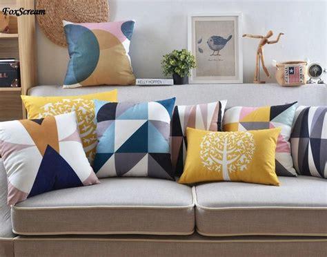 nordic home decorative sofa cushions geometry bird tree mustache beard pillows velvet throw