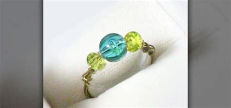 how to make a beaded ring how to make a simple wire and ring with your