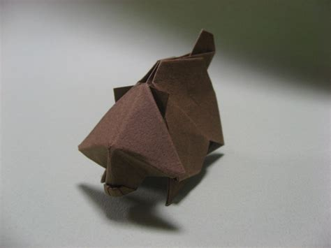 origami raccoon origami raccoon by h on deviantart