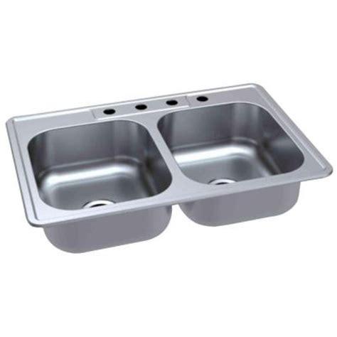glacier bay kitchen sink glacier bay top mount 33 in 4 bowl kitchen