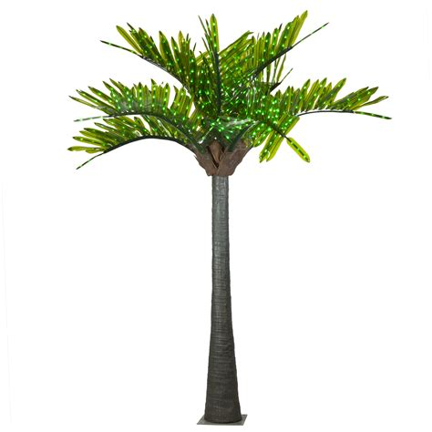 lighted palm tree lighted palm trees 20 led palm tree green