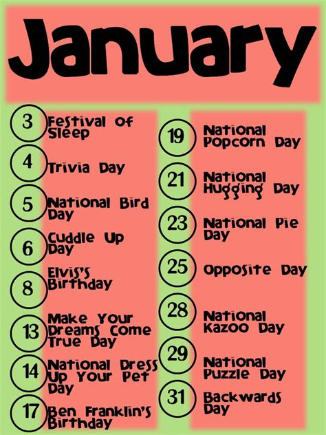 unique holidays and unique january holidays