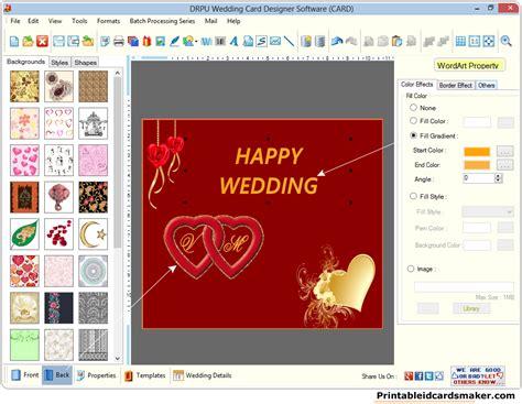 wedding card software wedding cards maker software screenshots to create own