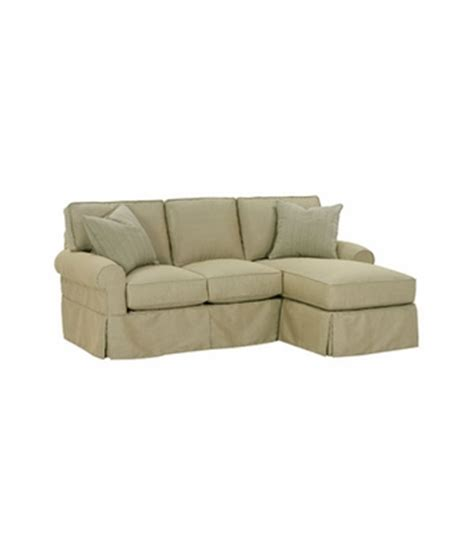 small sofa slipcover slipcovered small sectional chaise sofa with dressmaker skirt