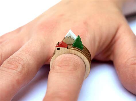 how to make laser cut jewelry lasercut wooden landscape rings