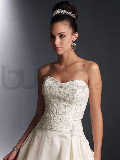 Taffeta Gown Wedding Dress With Beaded Bodice Sang