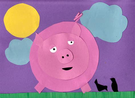 pig crafts for pig craft pig on a farm kindergarten nation