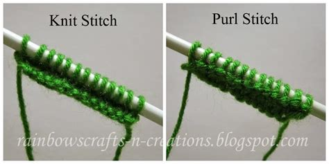 how to knit and purl in the same row rainbow s crafts and creations march 2014