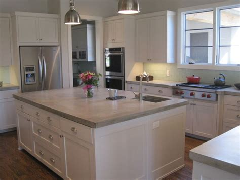 kitchen island top ideas best 25 concrete kitchen countertops ideas on