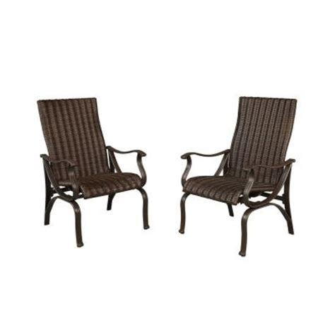 home depot patio chairs hton bay pembrey patio dining chairs 2 pack hd14204