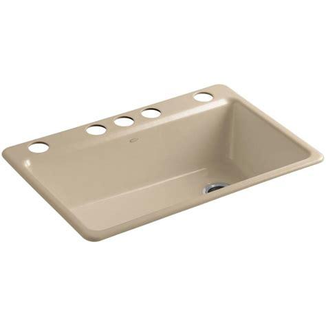 kitchen sink kit kohler riverby undermount cast iron 33 in 5 single