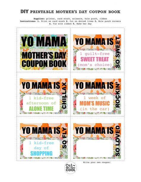 mothers day picture books diy printable s day coupon book yo
