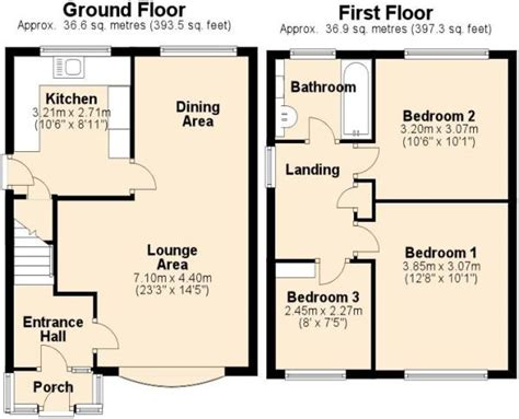 uk house floor plans 3 bedroom house for sale in pennine way ashby de la zouch