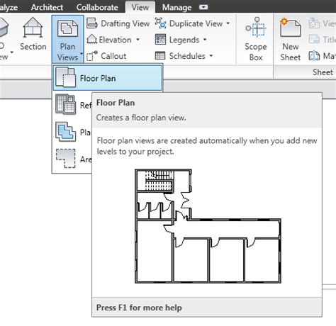 create floor plans creating the set of views revit mep