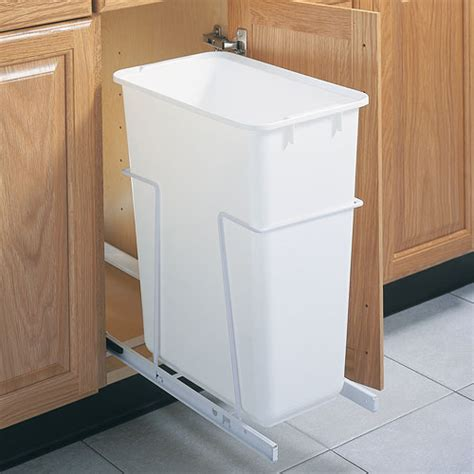kitchen cabinet garbage can pull out cabinet trash can 50 quart in cabinet trash cans