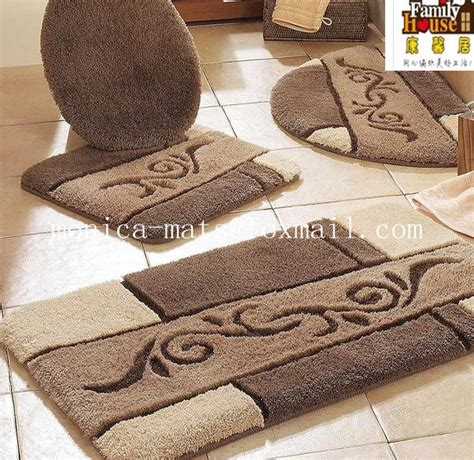 bathroom rug sets 5 pieces microfiber bath rug set buy find complete
