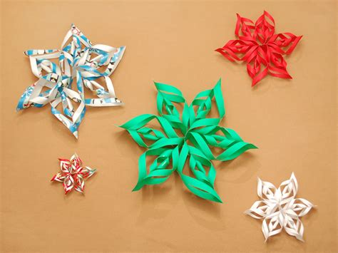 images of paper crafts how to make a 3d paper snowflake 12 steps with pictures