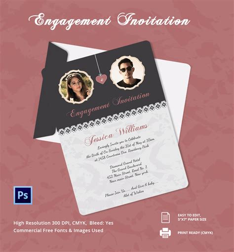 how to make engagement cards engagement invitation template 25 free psd ai vector