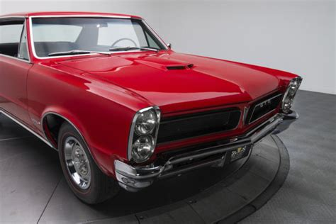 1965 pontiac gto 1918 miles torch red hardtop 421 v8 4 speed manual