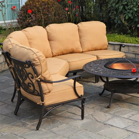 tuscany patio furniture grand tuscany seating sectional by hanamint family leisure