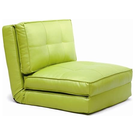 folding chair bed sleeper chair tufted folding single bed green