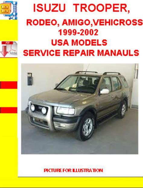 motor repair manual 2000 isuzu vehicross on board diagnostic system isuzu trooper 1999 workshop manual pdf download autos post