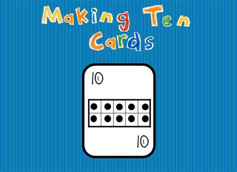 make 10 card sle s superstars math freebies