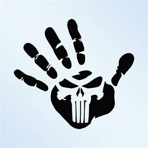 Tattoo Sticker Drucken by Hand Print Punisher Skull Vinyl Decal Sticker By