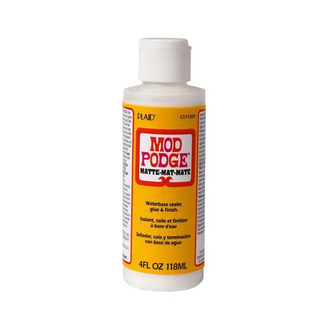decoupage adhesive mod podge 4 oz matte decoupage glue cs11305 the home depot