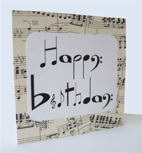 how to make musical greeting cards at home chlef musical notes birthday card by say it folksy