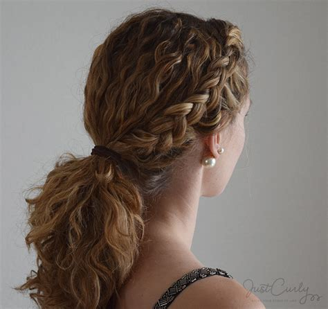 how to braid hair with on the end styling a braid with curly hair three different ways