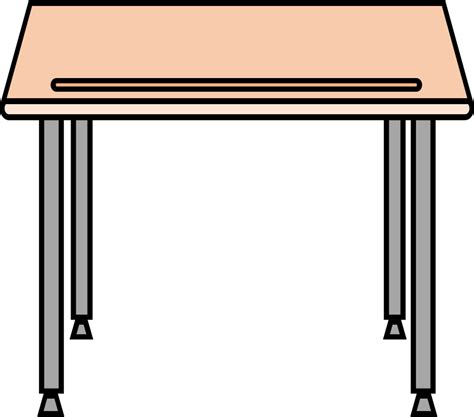 school desks clipart simple school desk