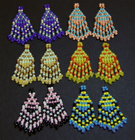 free earring patterns seed seed bead earrings and canes small designs with a