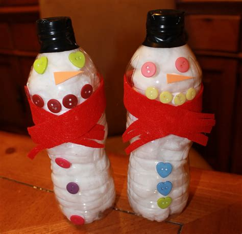 crafts with water bottles for w food waffle snowman