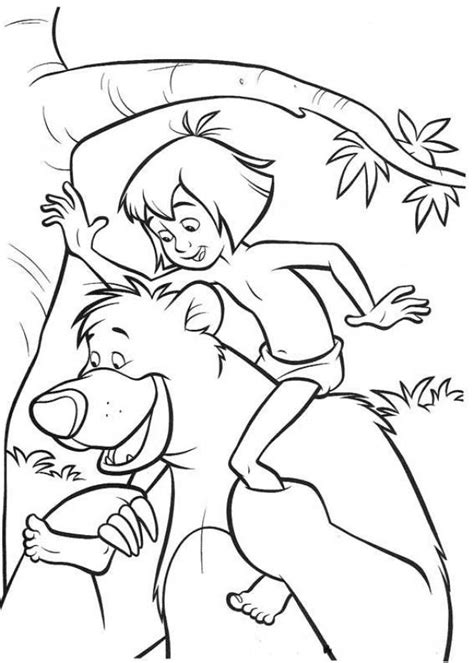 jungle book pictures to colour jungle book coloring page az coloring pages