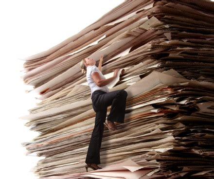 work with paper bad onely activities sorting through a mountain of
