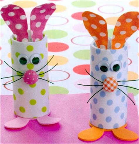 A Toilet Paper Roll Crafts Easter Bunny Dump A Day