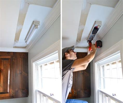 replace fluorescent light fixture in kitchen how to replace fluorescent lighting with a pendant fixture