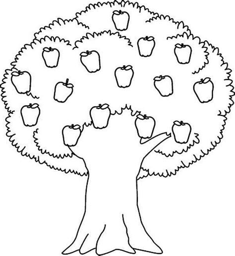 tree colouring in pages apple tree awesome apple tree coloring page coloring
