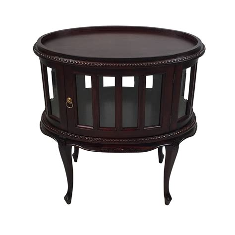 Ebay Dining Room Chairs solid mahogany wood tea table oval shape with glass
