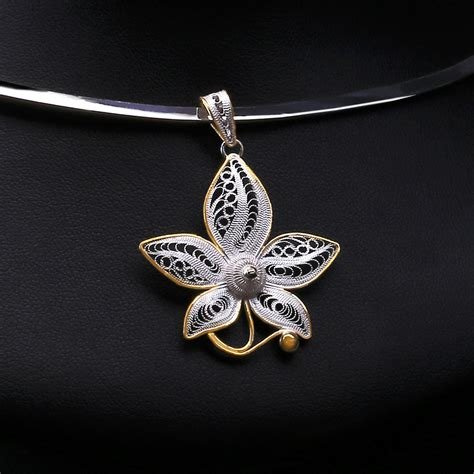 filigree for jewelry nouveau filigree jewelry orchid set nouveau