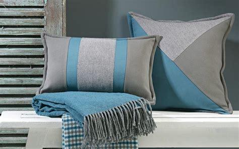 coussin rectangulaire de luxe 233 bleu et gris 2 tailles au choix