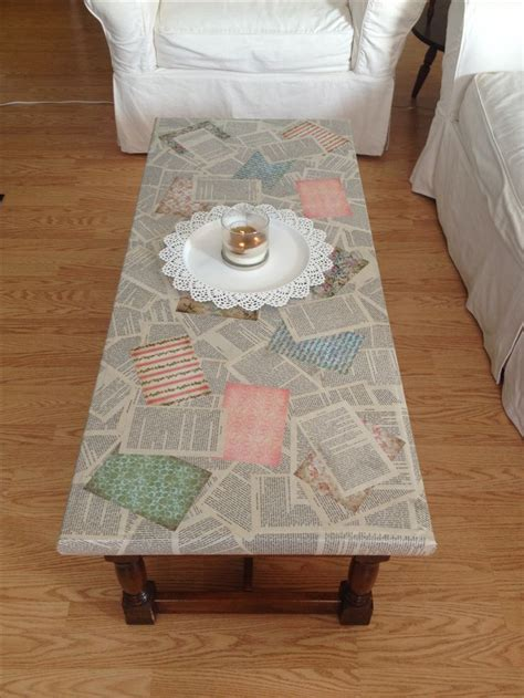 how to decoupage furniture with paper best 20 decoupage coffee table ideas on