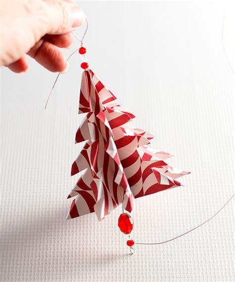 origami tree ornament handmade ornament