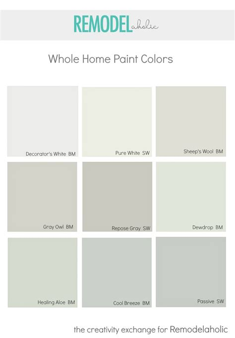 colors that look with grey remodelaholic choosing a whole home paint color