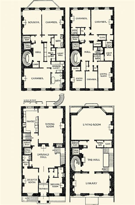 townhome floor plan the gilded age era vincent astor townhouse