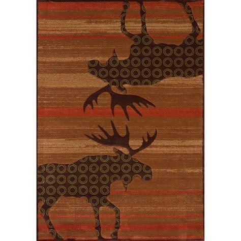 moose area rug terracotta moose area rugs