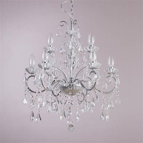 chrome and chandeliers vara 9 light bathroom chandelier chrome
